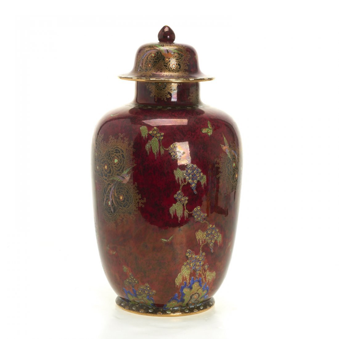 Large Carltonware lustre jar and cover