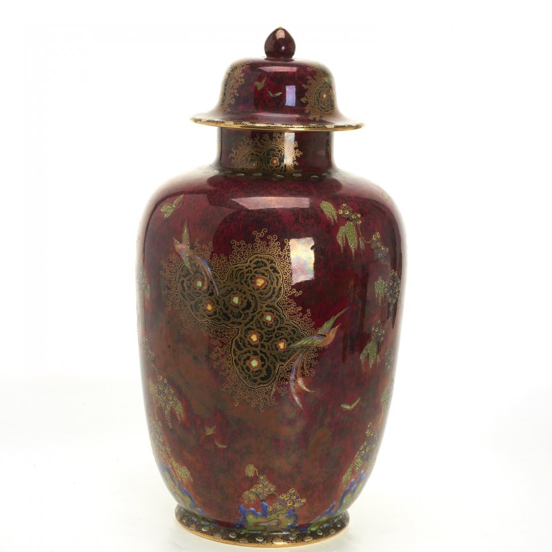 Large Carltonware lustre jar and cover - 2