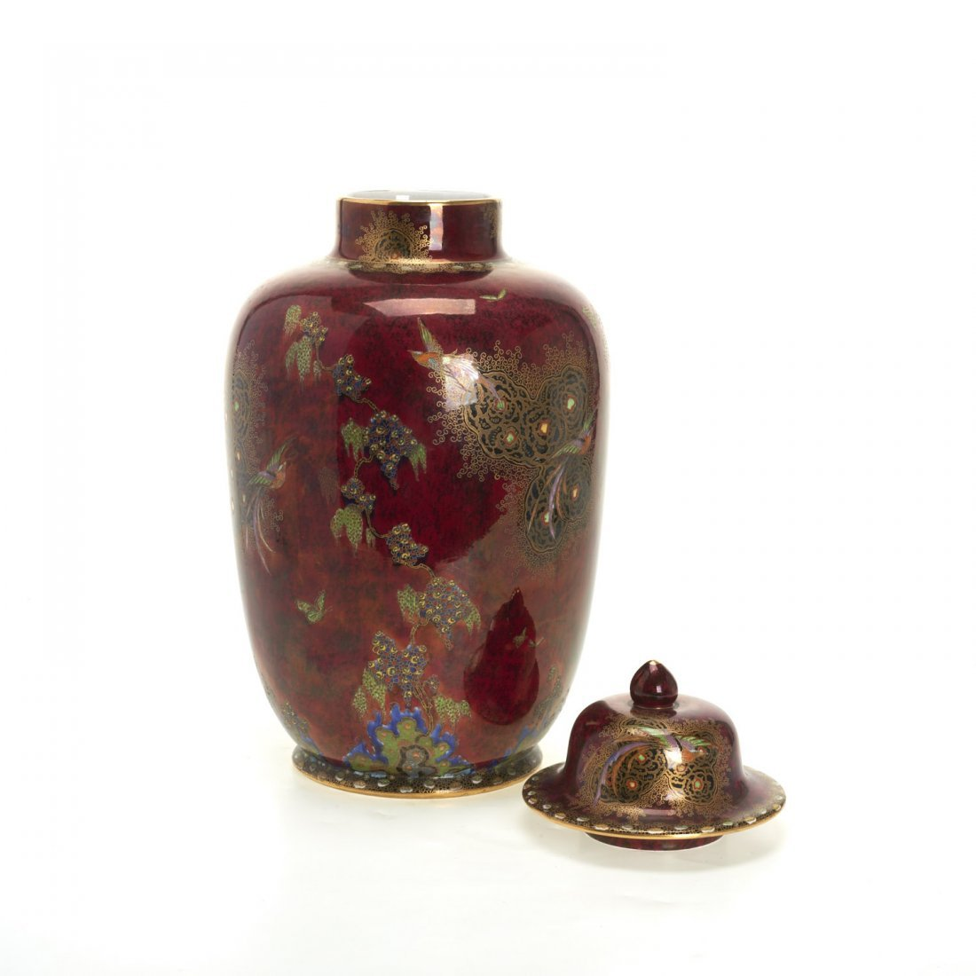 Large Carltonware lustre jar and cover - 6