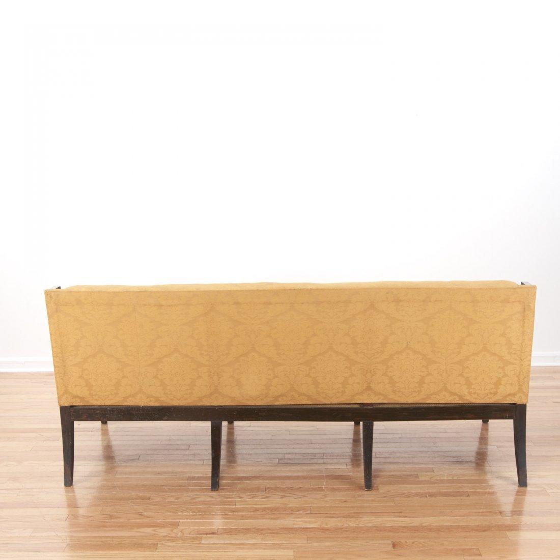 Regency parcel gilt, ebonized upholstered settee - 6