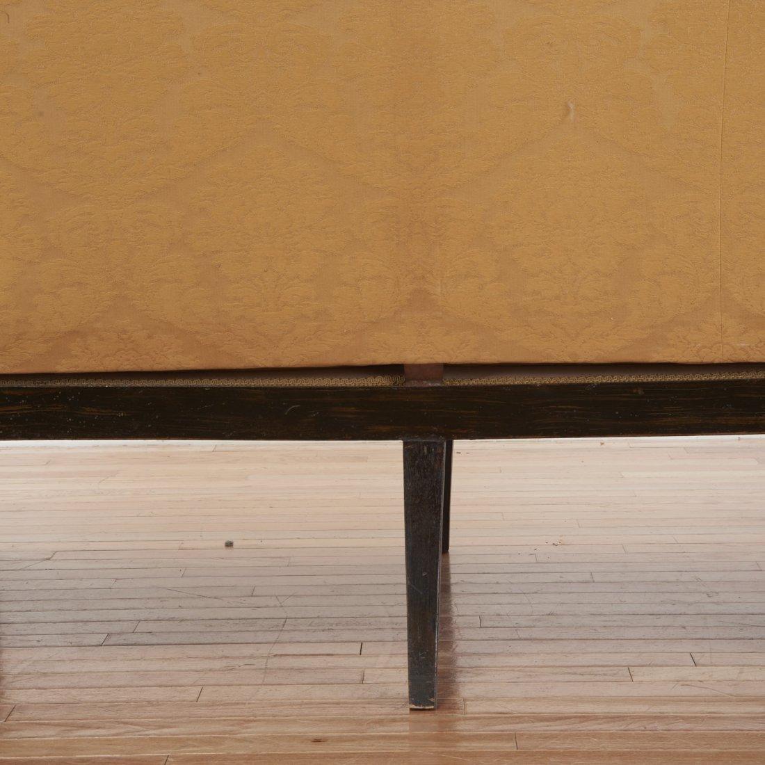 Regency parcel gilt, ebonized upholstered settee - 7