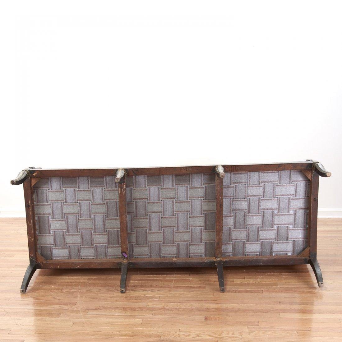 Regency parcel gilt, ebonized upholstered settee - 8