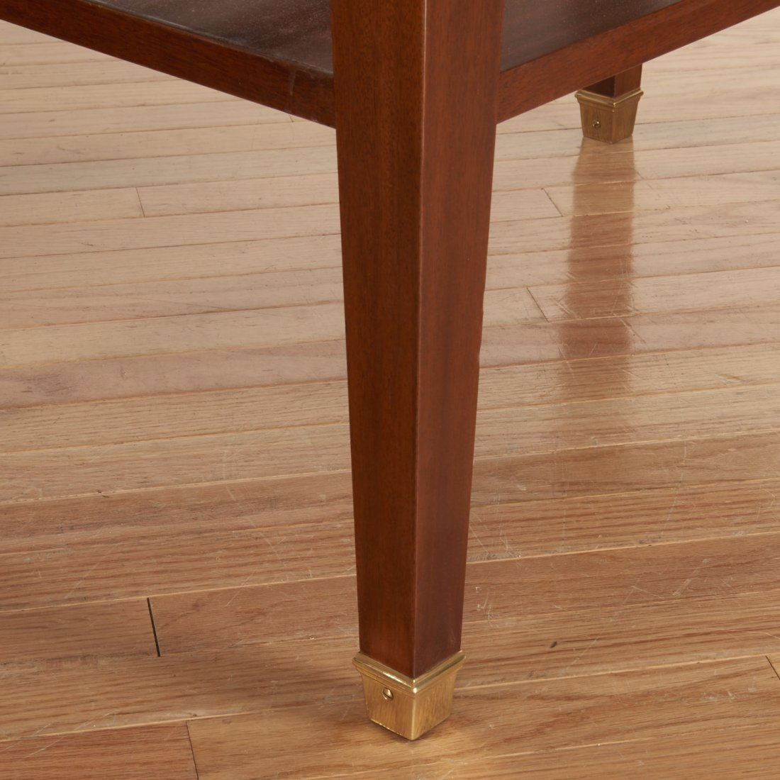 Pair Neo-Directoire style mahogany side tables - 6