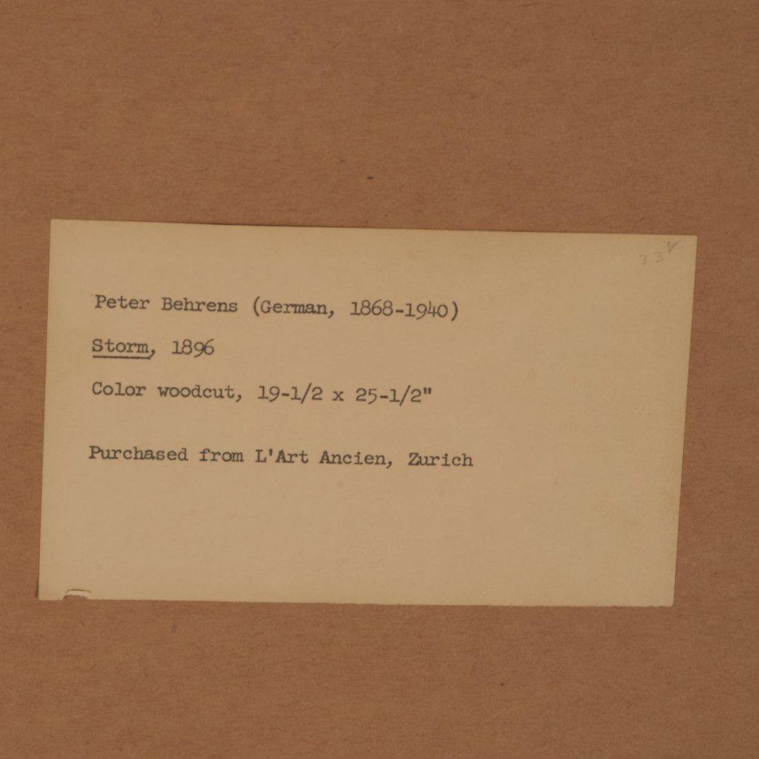 Peter Behrens, woodcut - 7