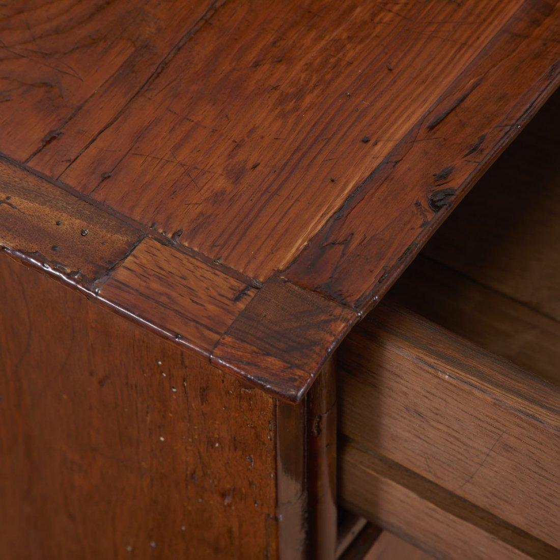 George II burled walnut chest of drawers - 5