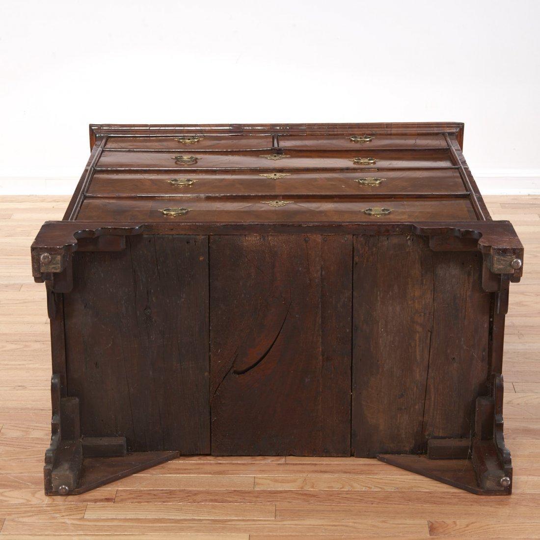 George II burled walnut chest of drawers - 7