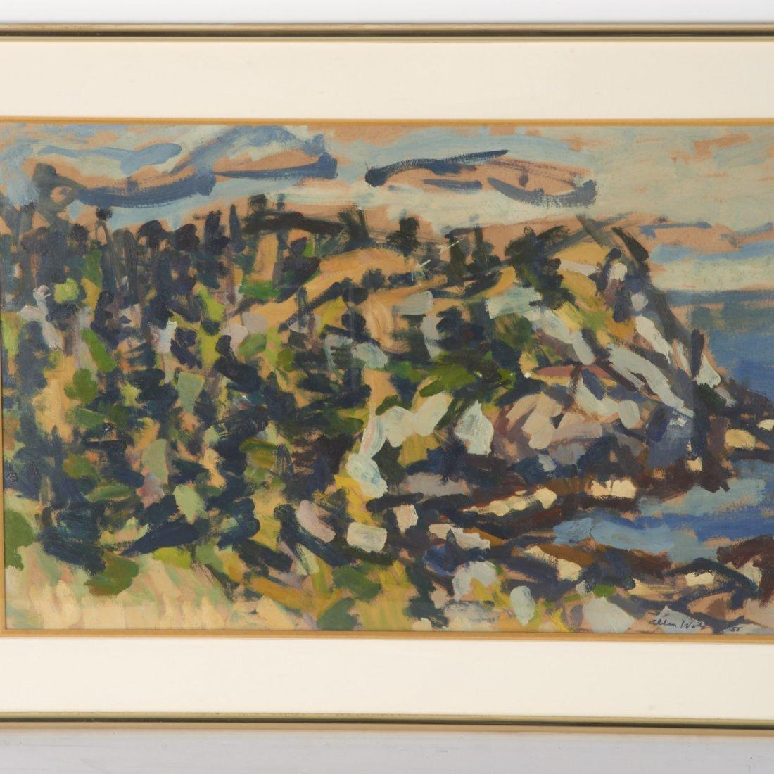 Allen Wolf, painting - 2