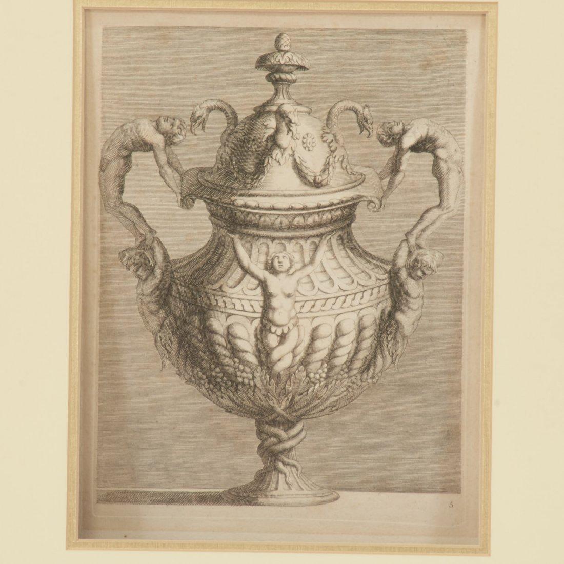 Pair Roman Antiquity engravings after Piranesi - 3