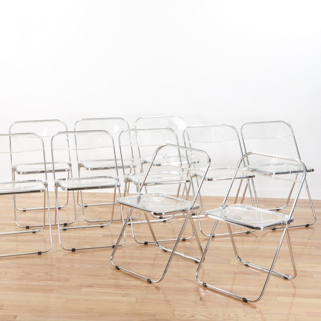 Set (8) Castelli Pila Lucite folding chairs