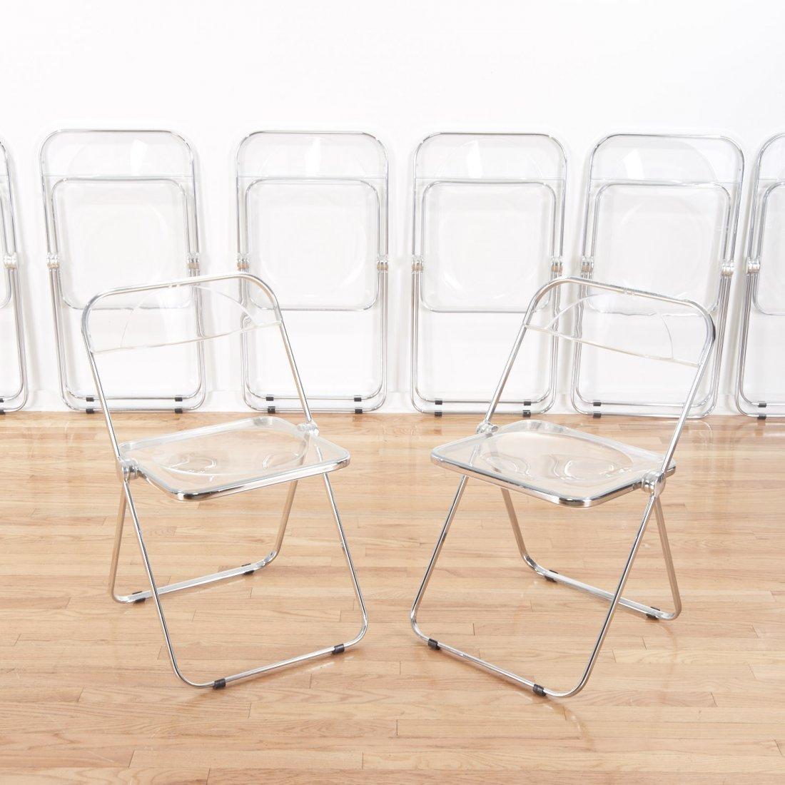 Set (8) Castelli Pila Lucite folding chairs - 2