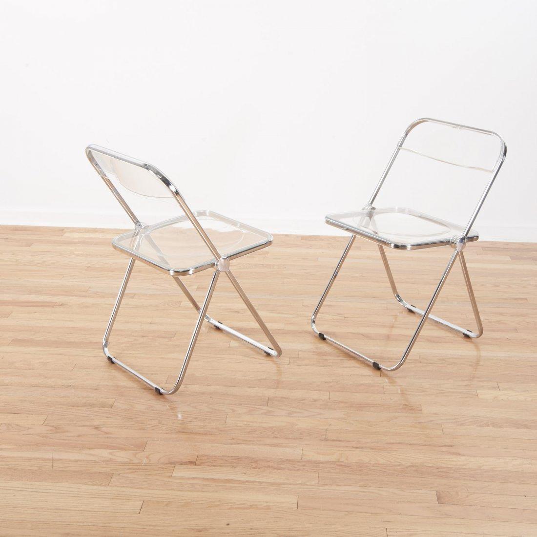 Set (8) Castelli Pila Lucite folding chairs - 3