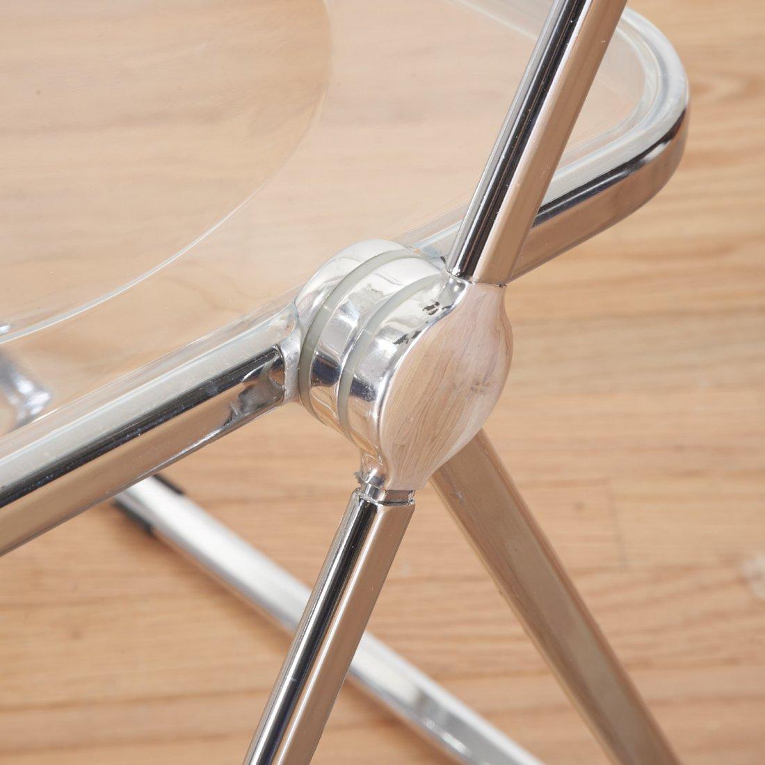 Set (8) Castelli Pila Lucite folding chairs - 4