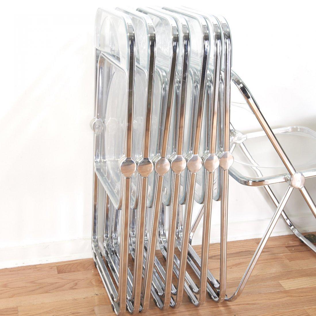 Set (8) Castelli Pila Lucite folding chairs - 7
