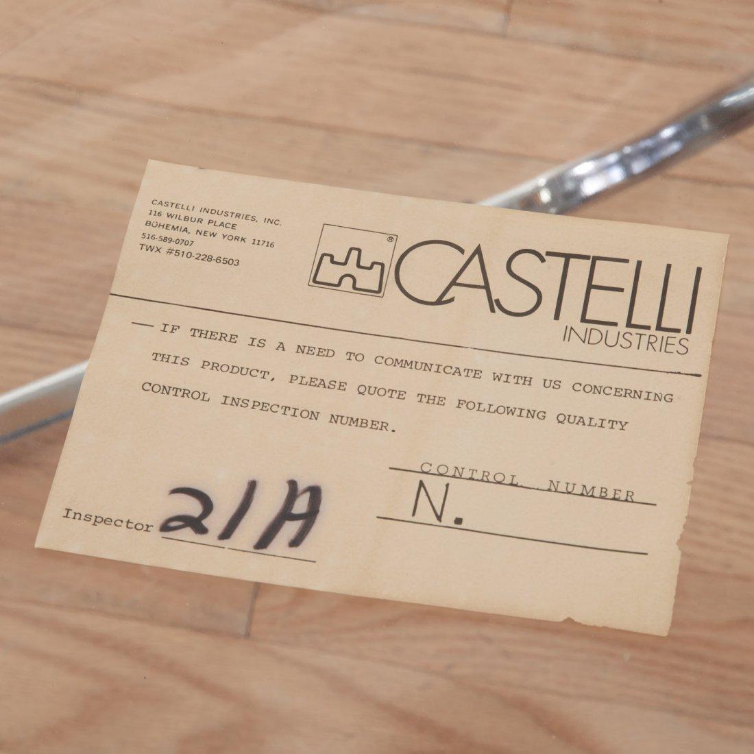 Set (8) Castelli Pila Lucite folding chairs - 8