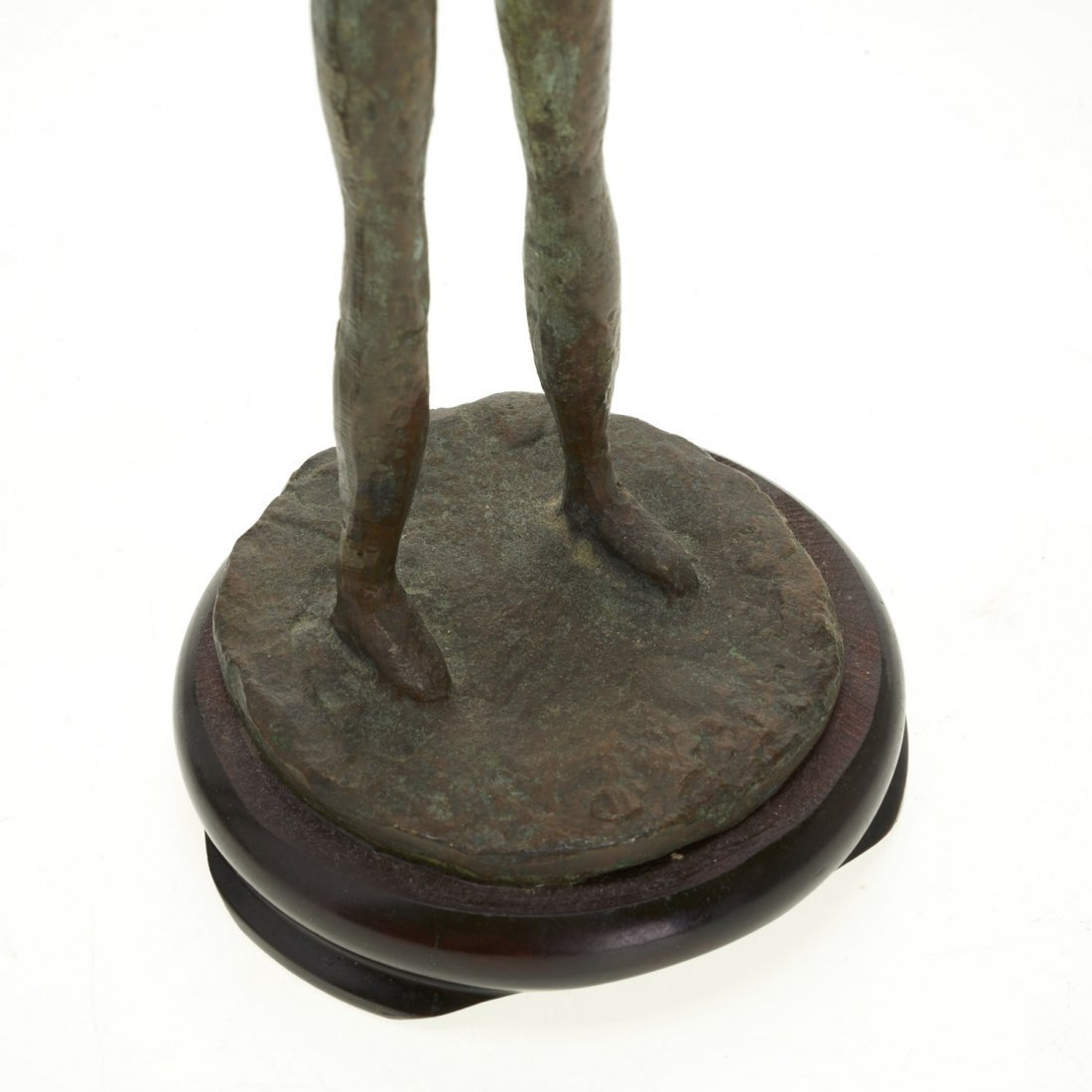 Pair Mid-Century figural bronze candlesticks - 6