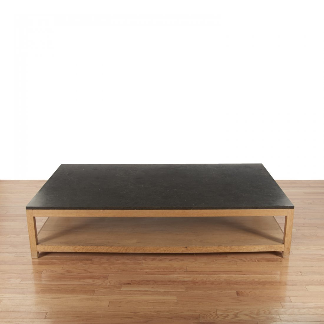 Holly Hunt style marble/slate top coffee table