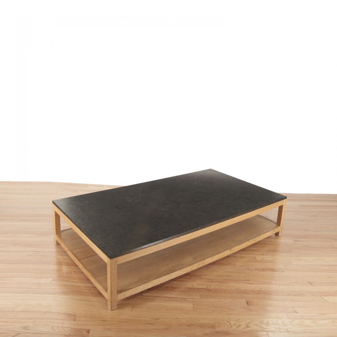 Holly Hunt style marble/slate top coffee table - 2