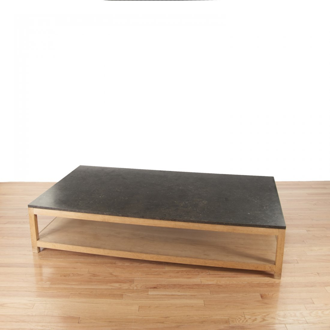 Holly Hunt style marble/slate top coffee table - 3