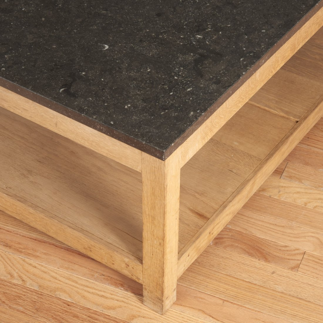 Holly Hunt style marble/slate top coffee table - 4