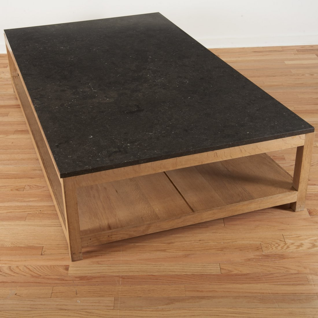 Holly Hunt style marble/slate top coffee table - 6