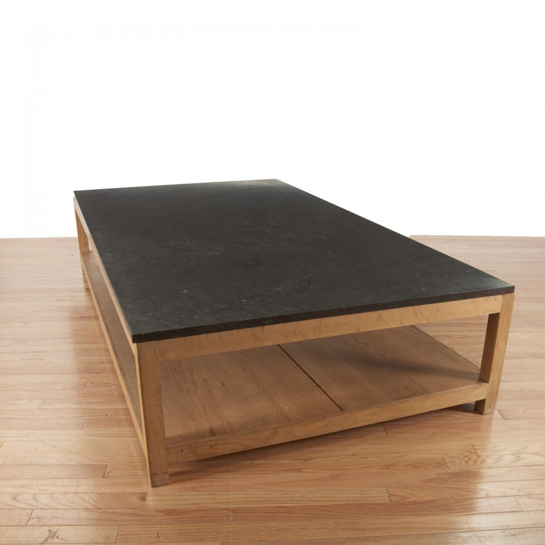 Holly Hunt style marble/slate top coffee table - 7