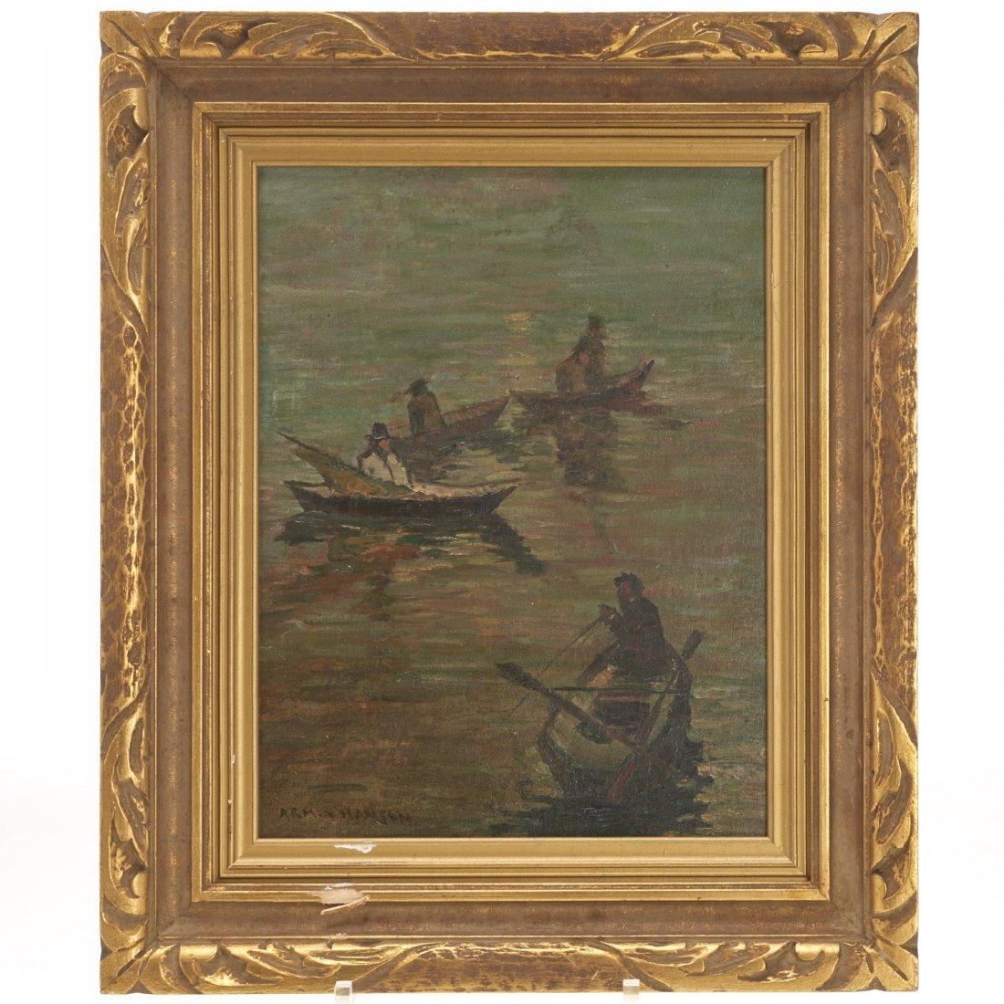 Armin Hansen, oil painting