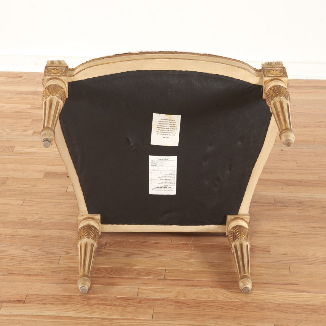 Louis XVI style cowhide fauteuil by Dennis & Leen - 8