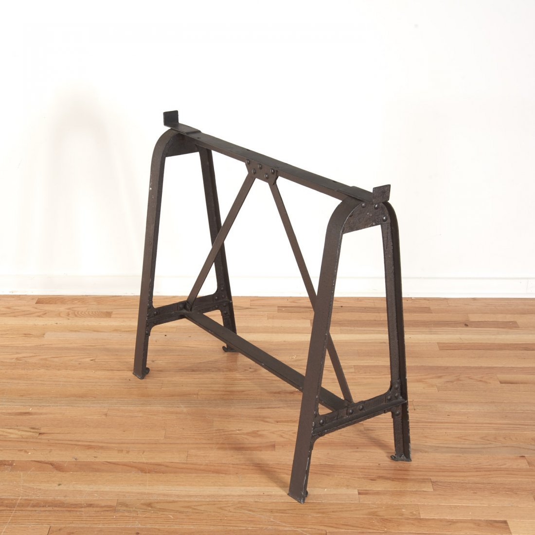 Industrial cast iron, reclaimed wood dining table - 3