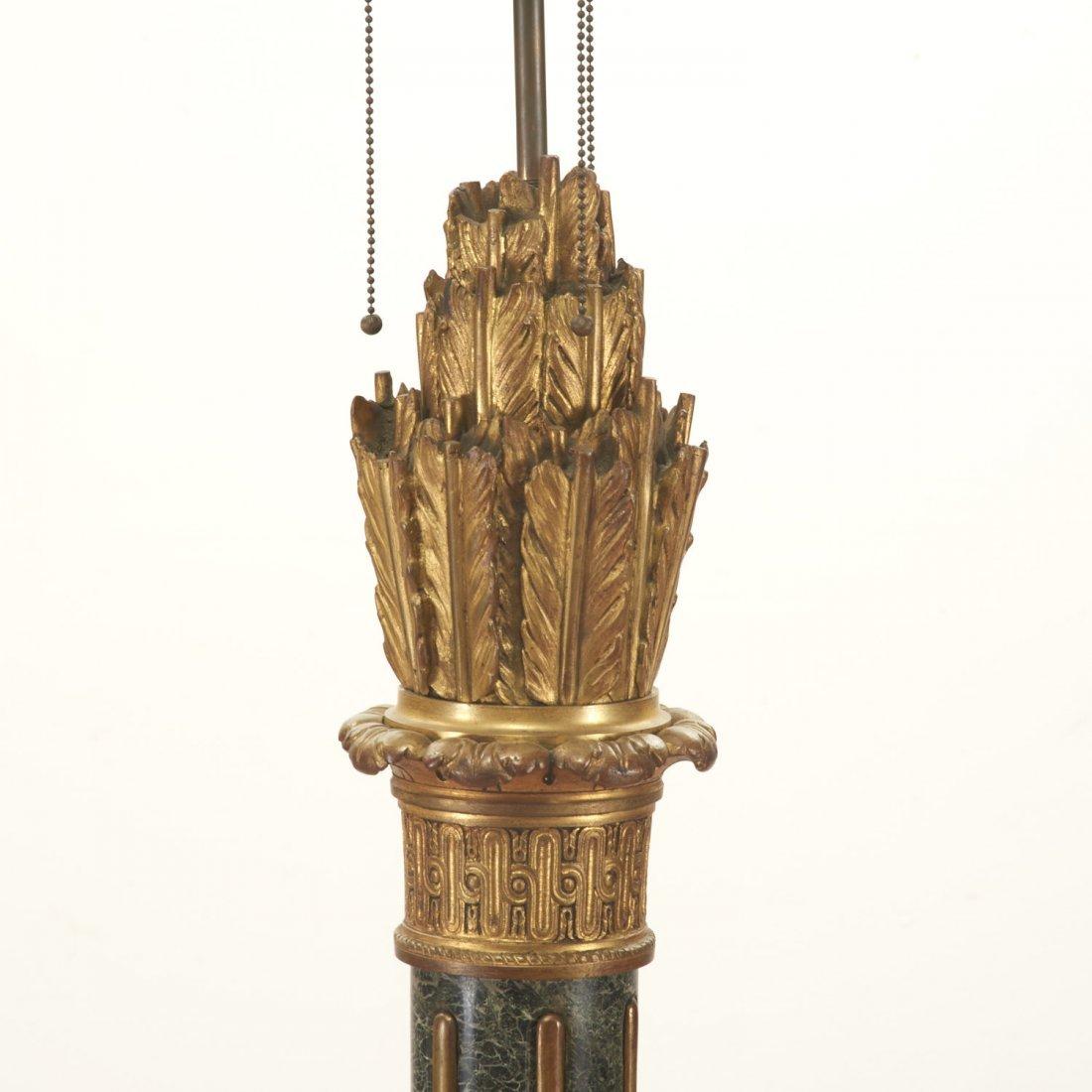Napoleon III bronze, marble fasces floor lamp - 2