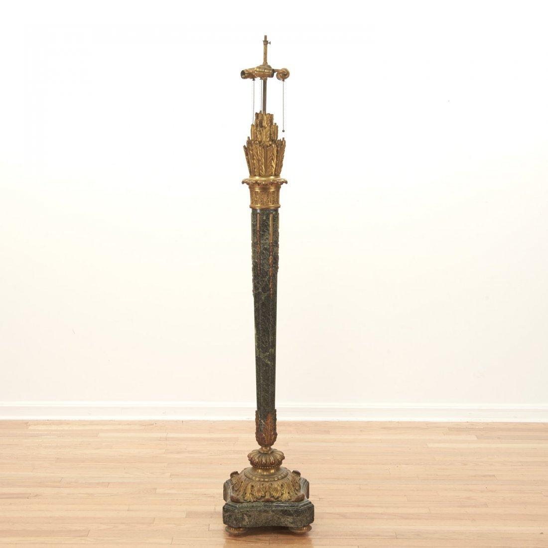 Napoleon III bronze, marble fasces floor lamp - 4