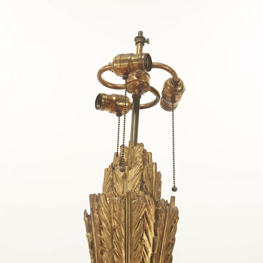 Napoleon III bronze, marble fasces floor lamp - 6
