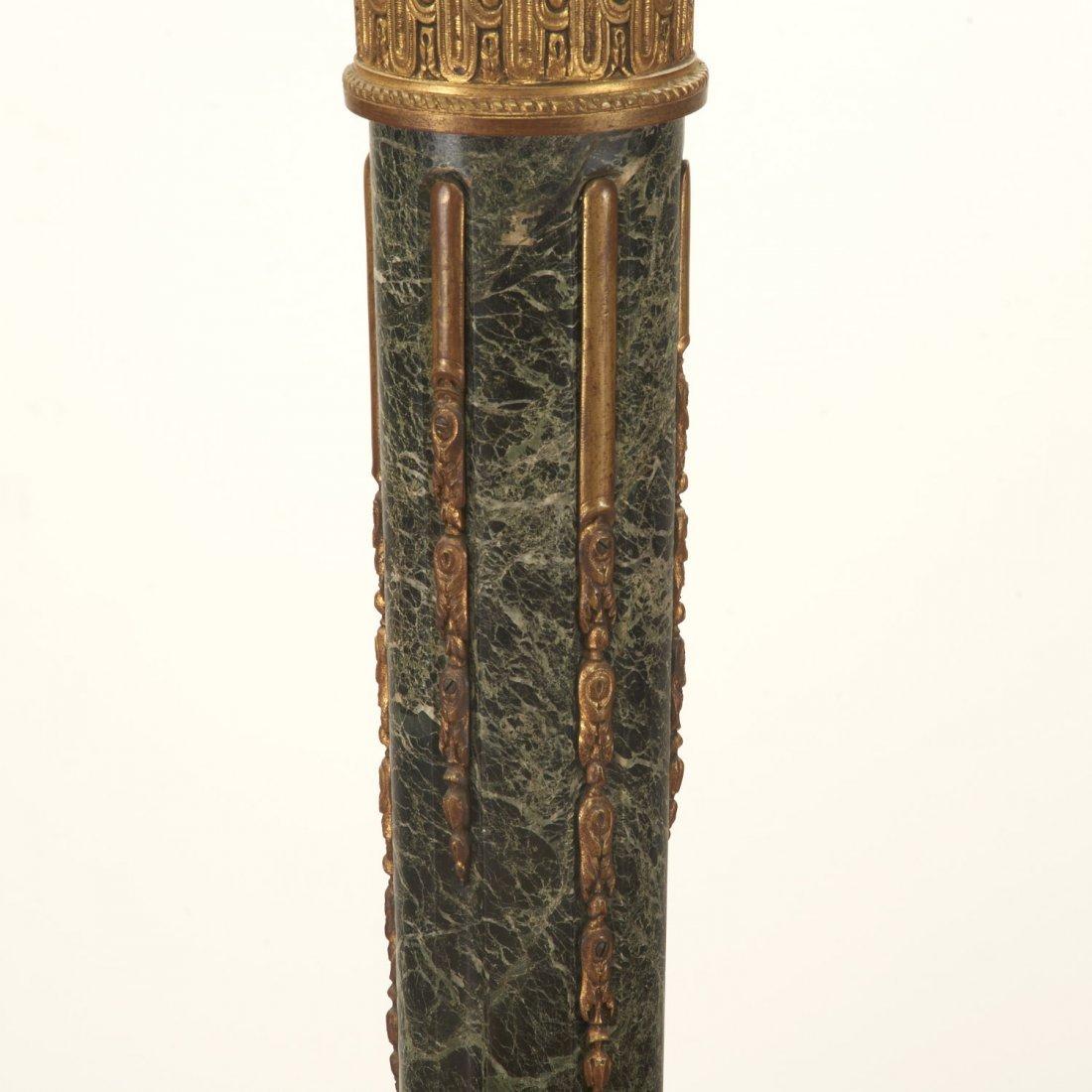 Napoleon III bronze, marble fasces floor lamp - 7