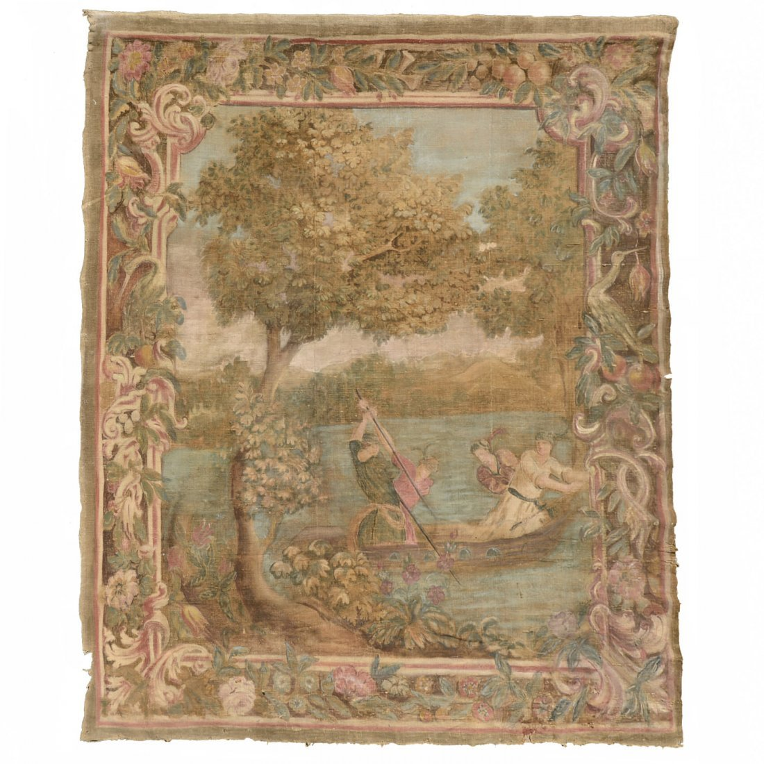 Antique Italian painted tapestry