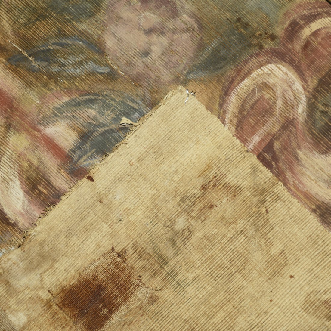 Antique Italian painted tapestry - 6