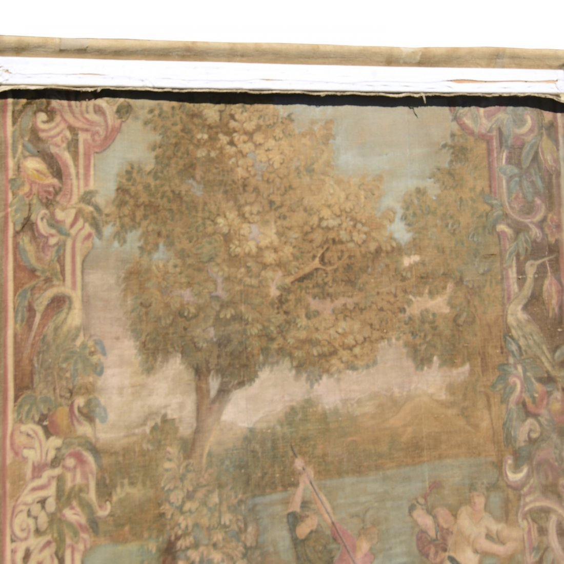 Antique Italian painted tapestry - 7