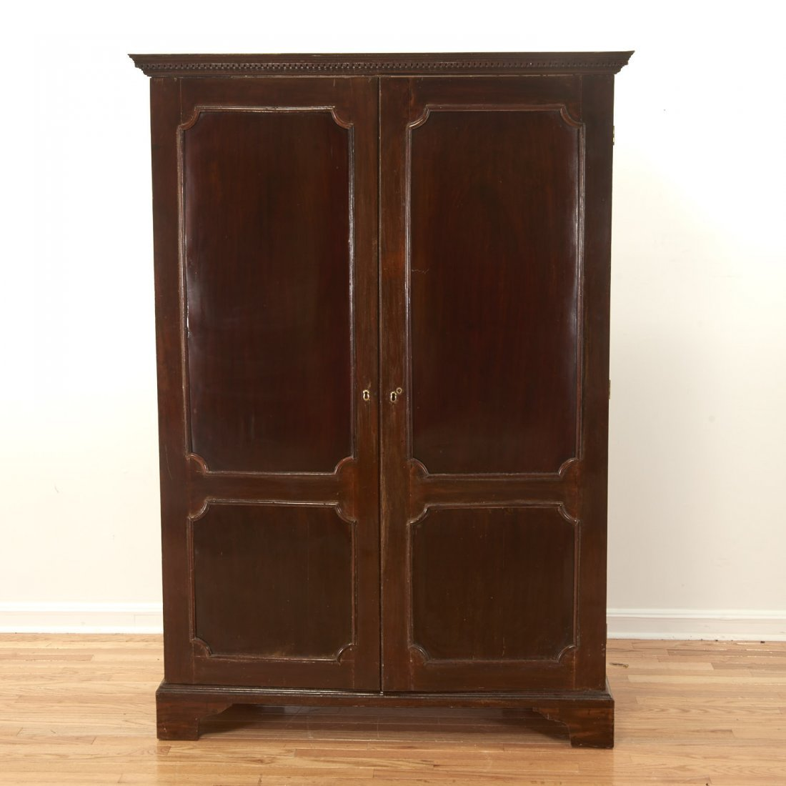 George III mahogany collector's cabinet - 2