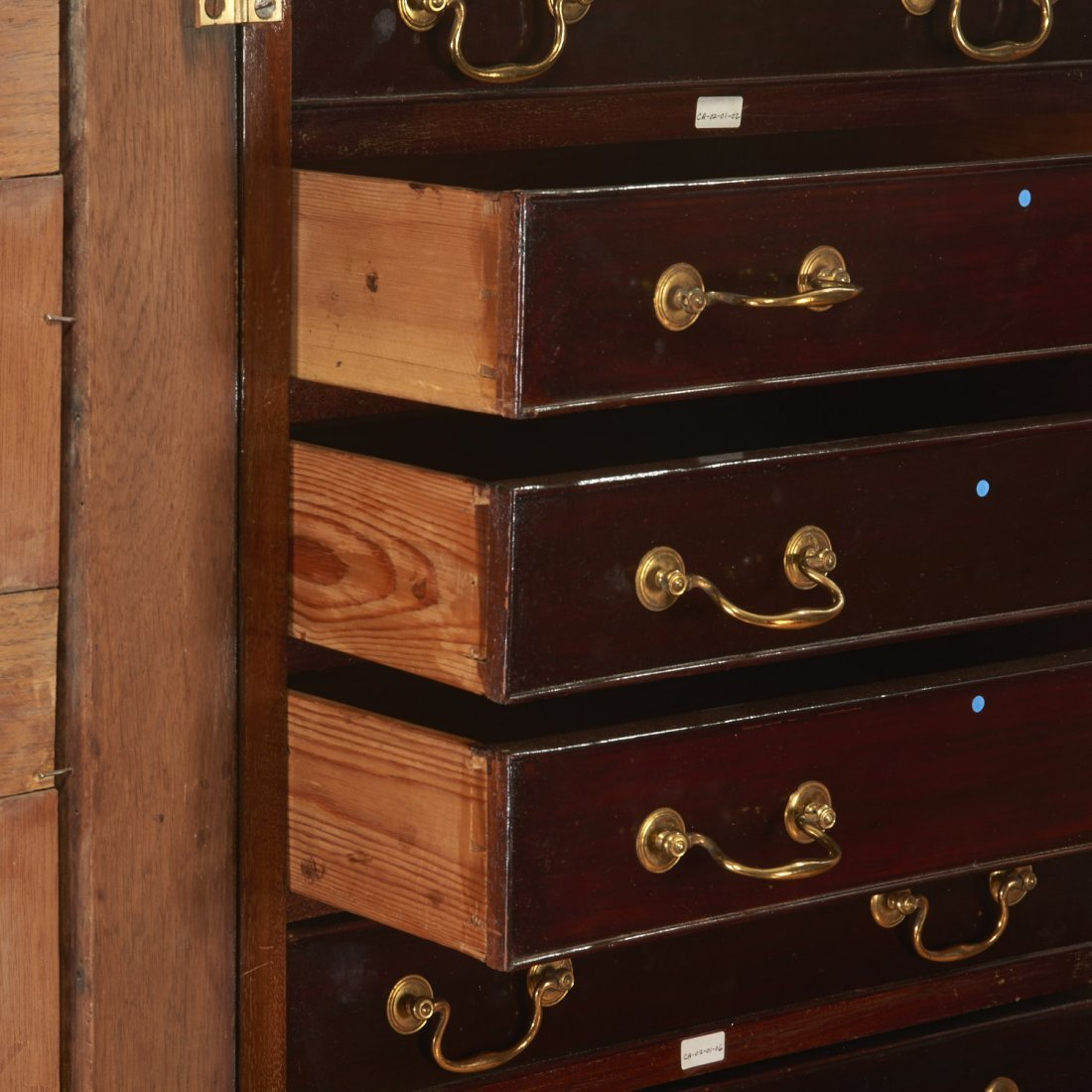 George III mahogany collector's cabinet - 5
