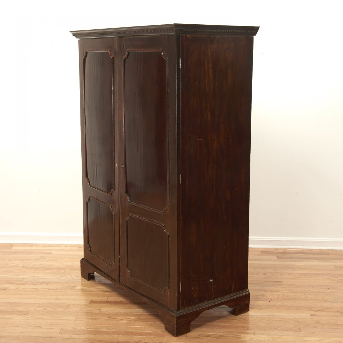 George III mahogany collector's cabinet - 6