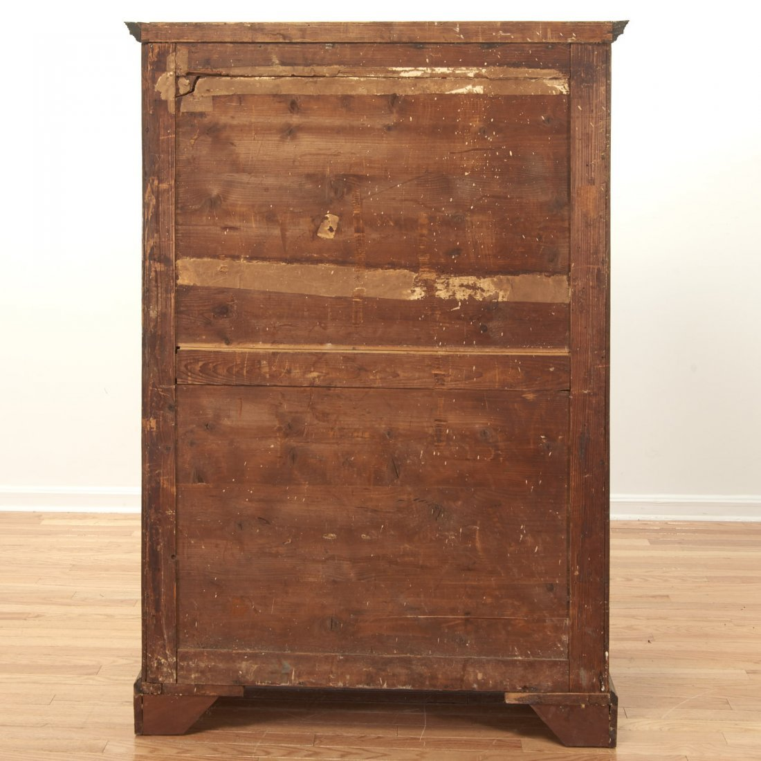 George III mahogany collector's cabinet - 8