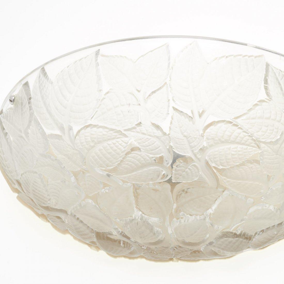 "Pair R. Lalique ""Charmes"" glass wall sconces - 2"
