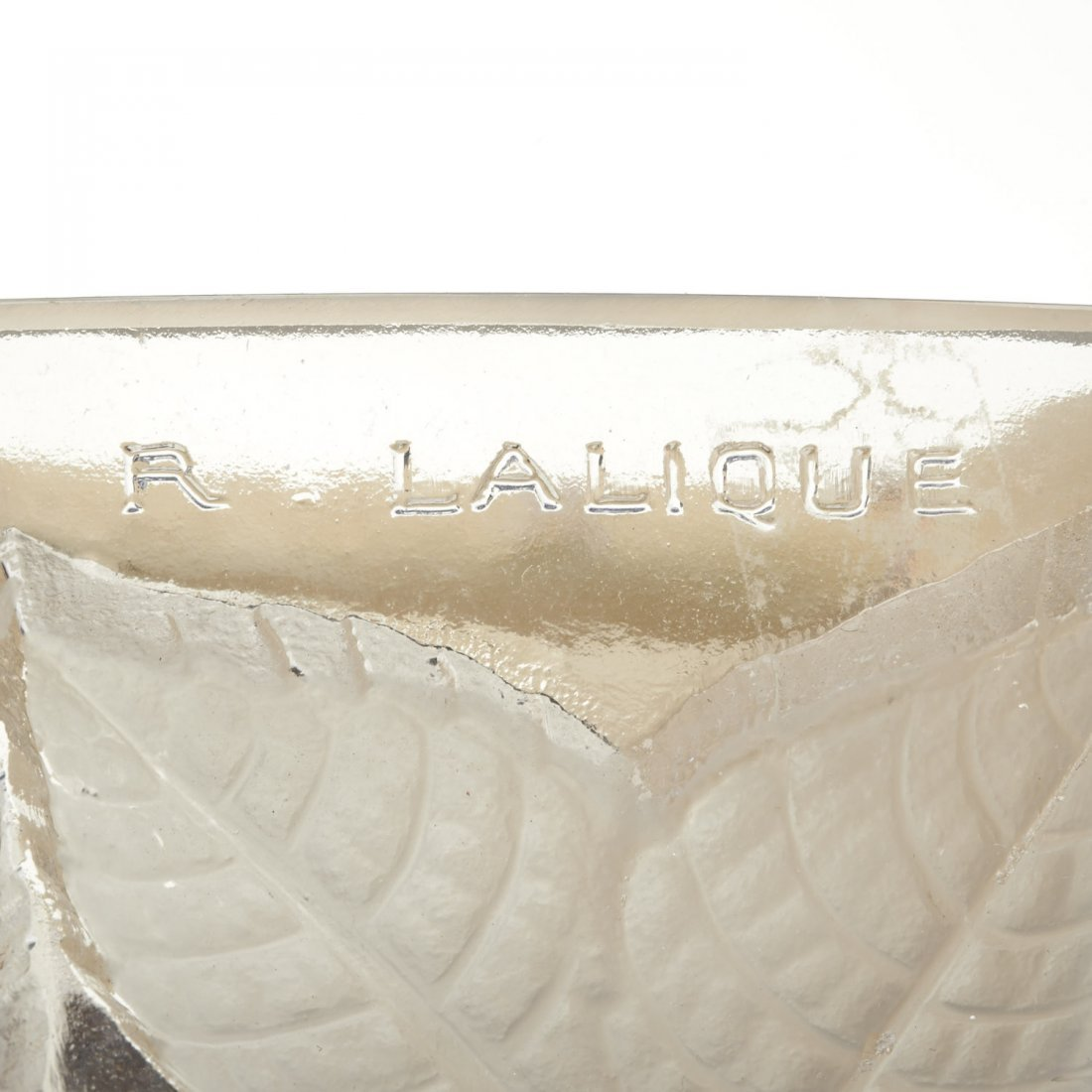 "Pair R. Lalique ""Charmes"" glass wall sconces - 5"
