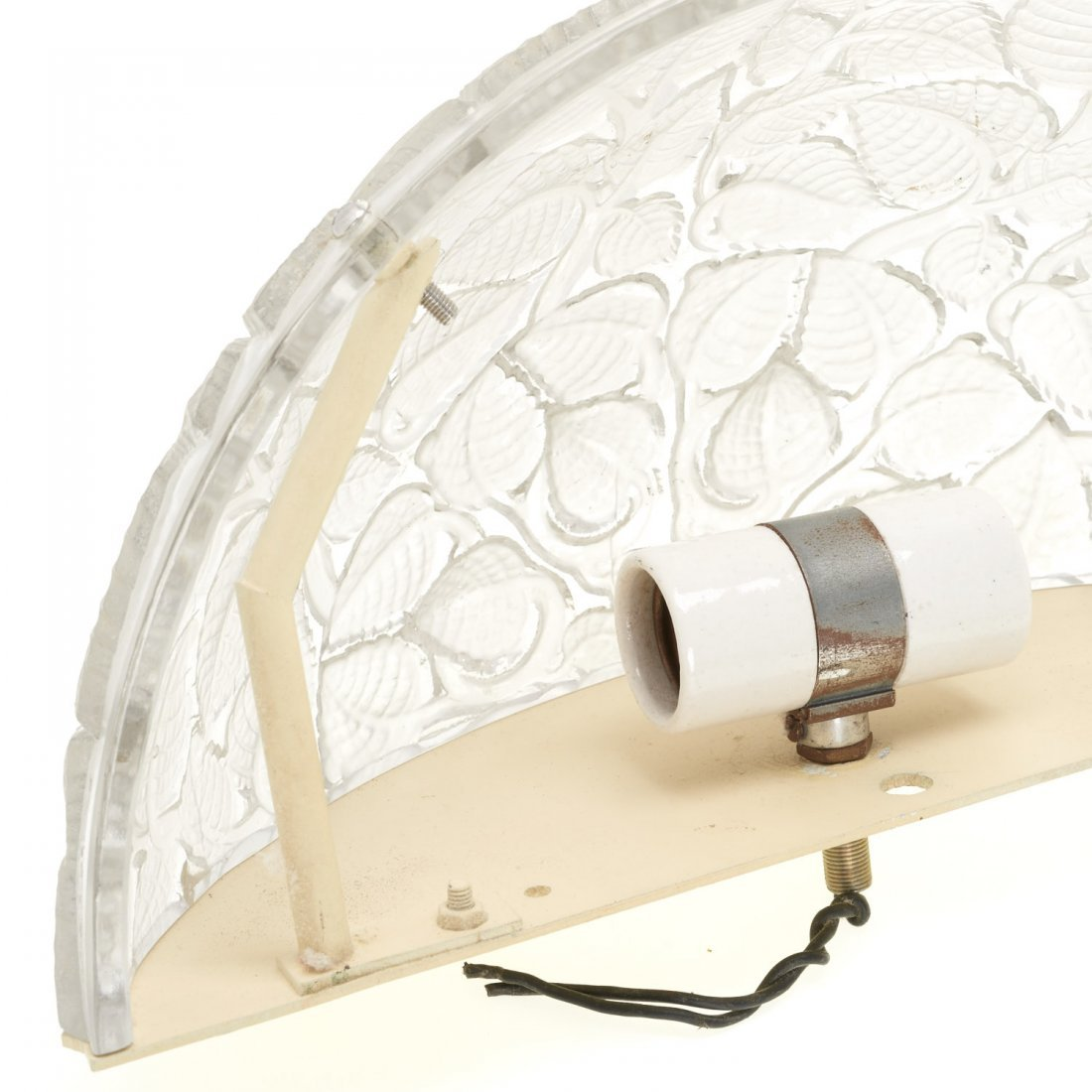 "Pair R. Lalique ""Charmes"" glass wall sconces - 7"