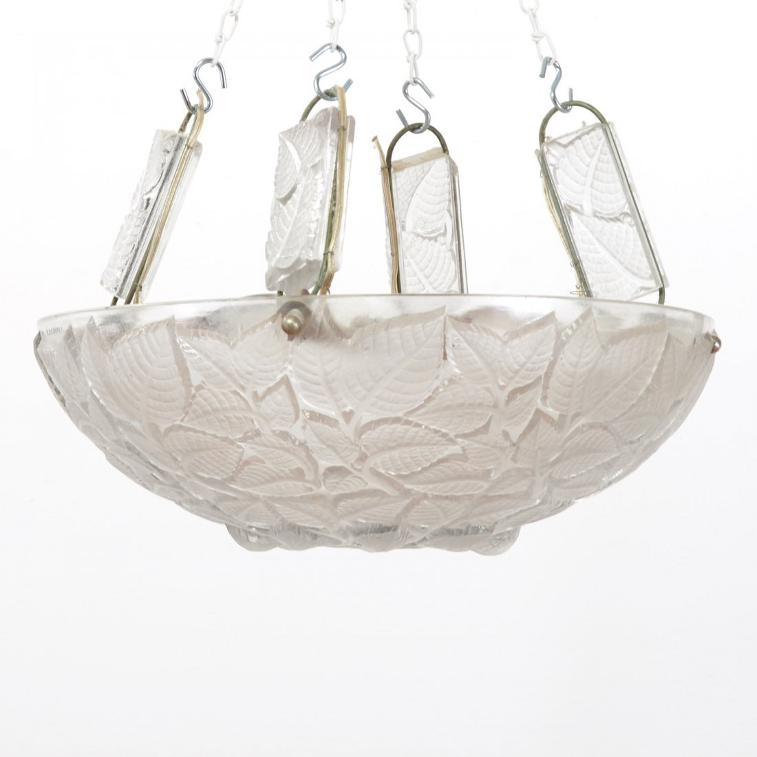 """R. Lalique """"Charmes"""" glass plafonnier - 2"""