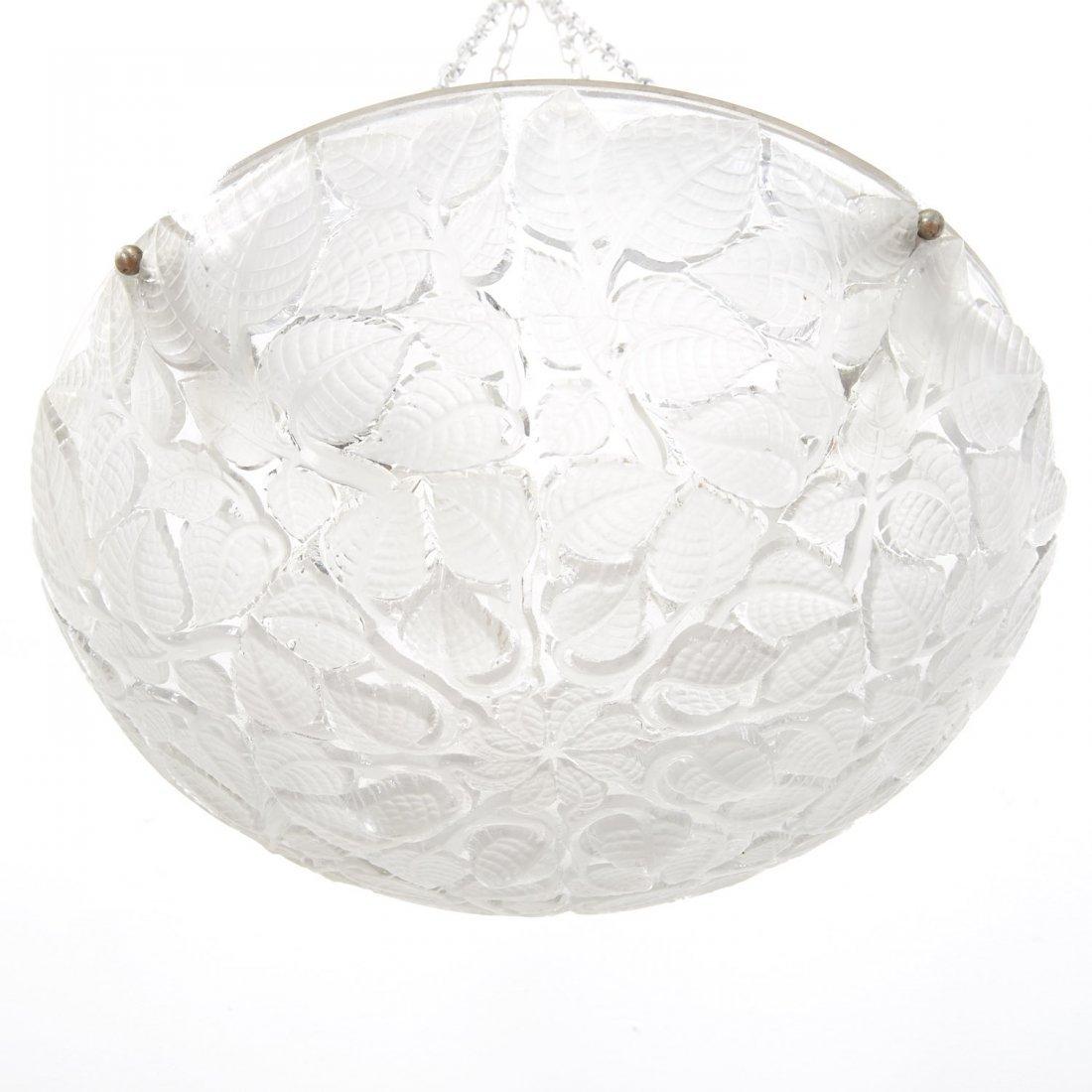 """R. Lalique """"Charmes"""" glass plafonnier - 3"""