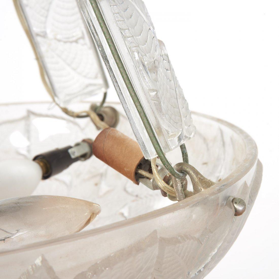 """R. Lalique """"Charmes"""" glass plafonnier - 5"""