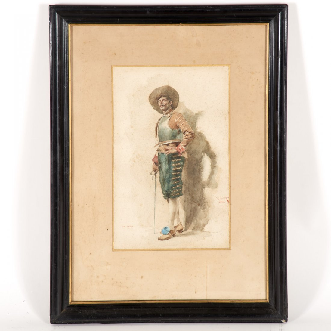 Angelo Comte de Courten, watercolor painting
