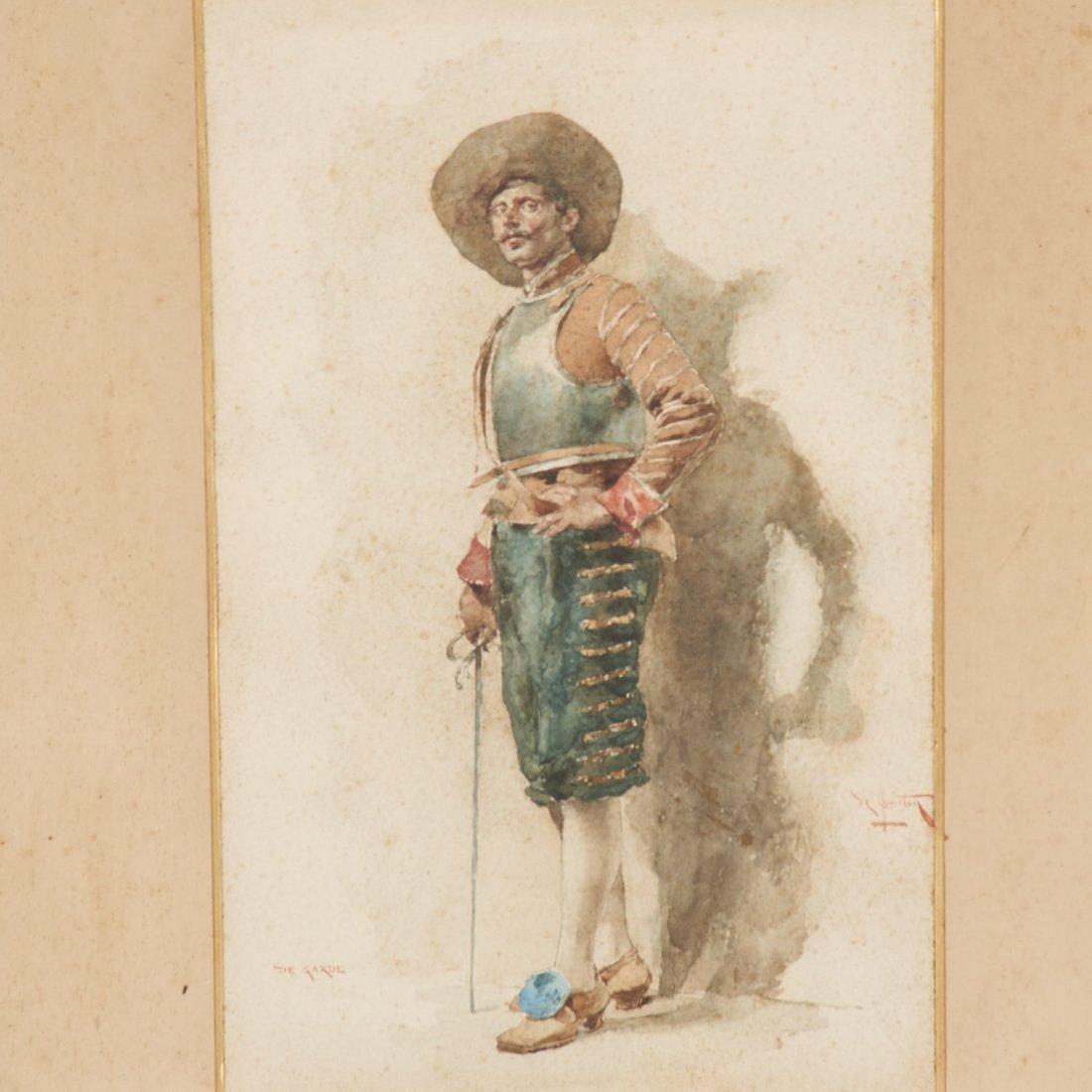 Angelo Comte de Courten, watercolor painting - 2