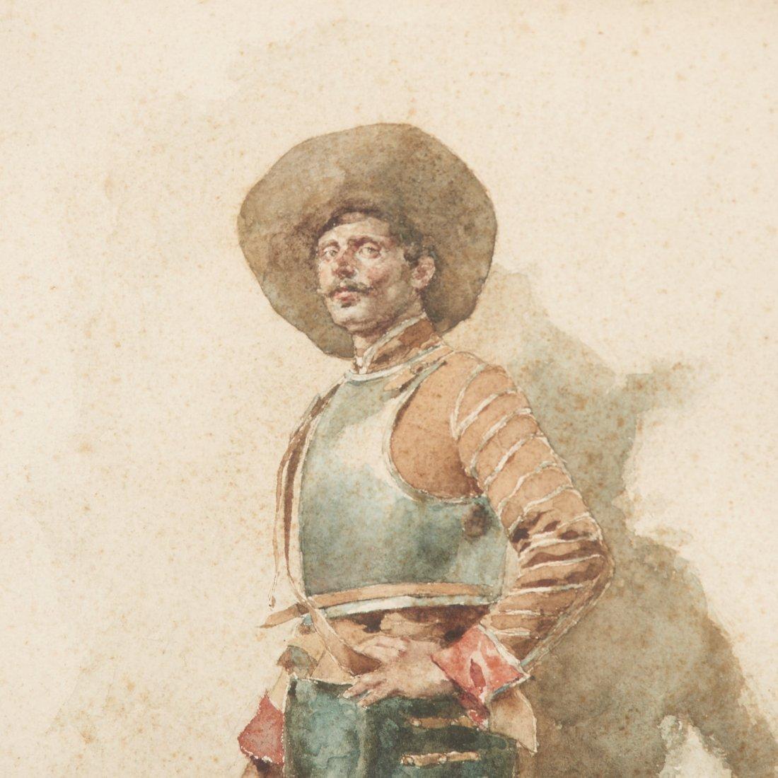 Angelo Comte de Courten, watercolor painting - 3