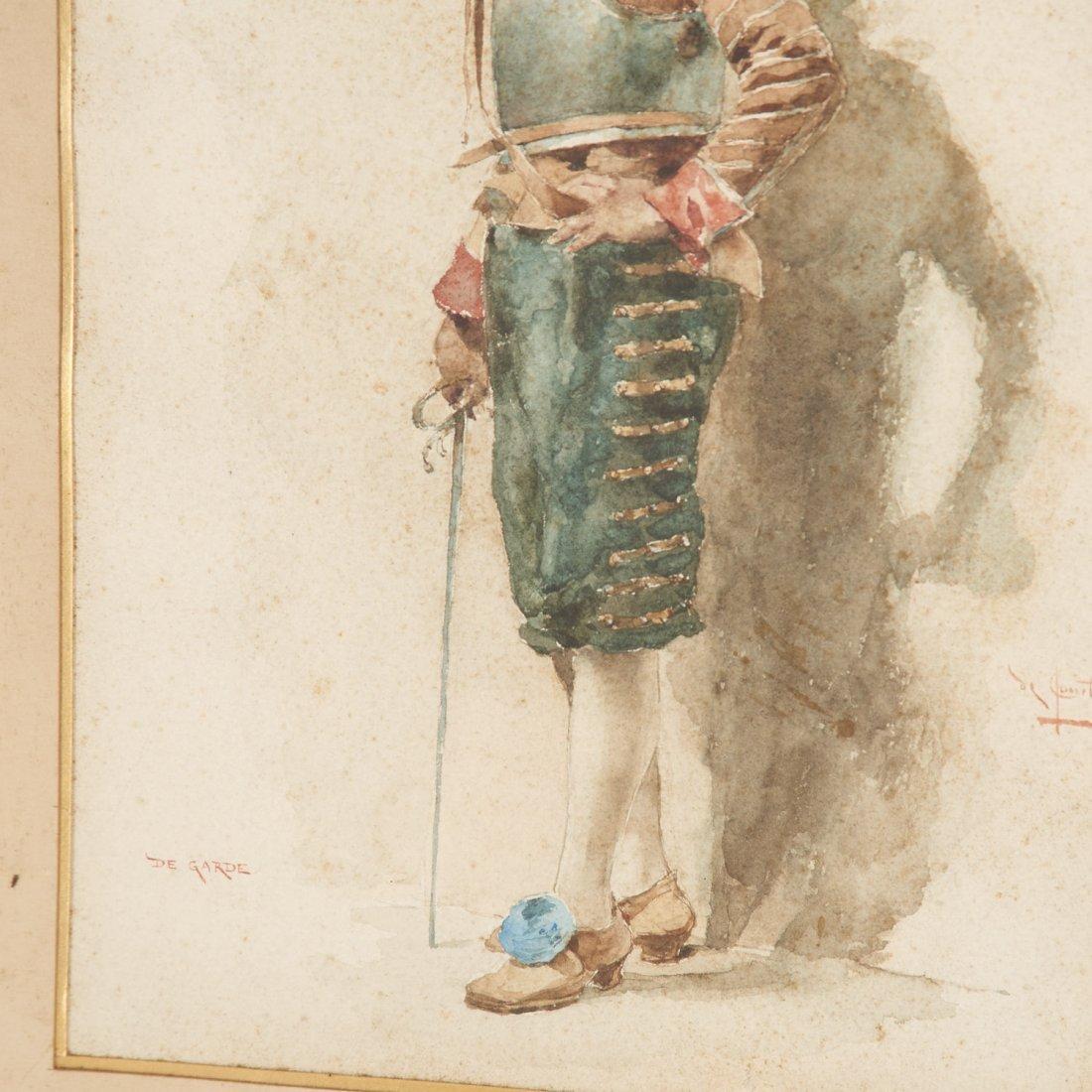 Angelo Comte de Courten, watercolor painting - 4