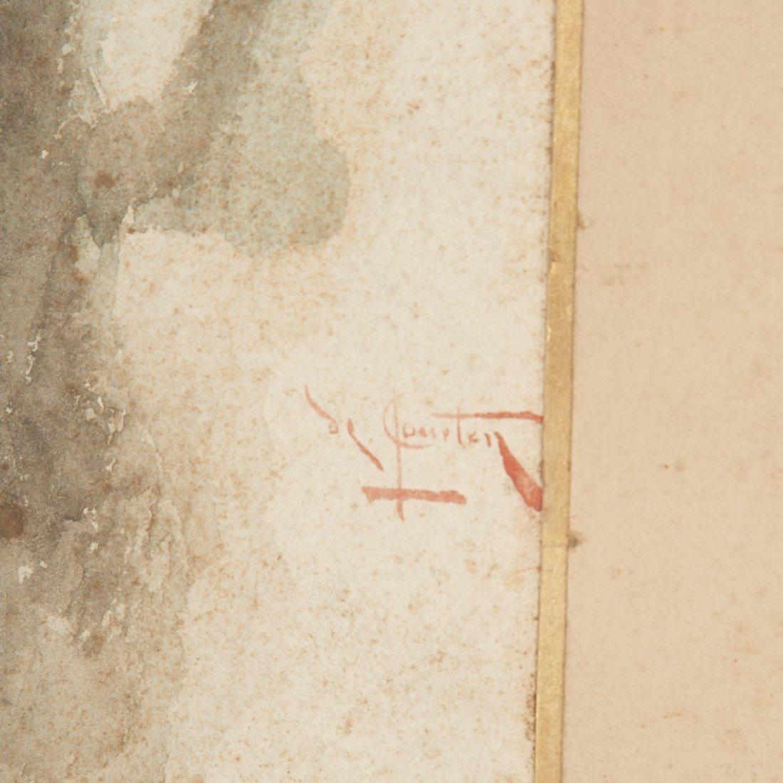 Angelo Comte de Courten, watercolor painting - 6